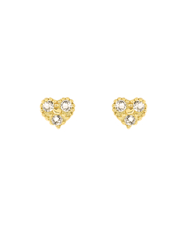TOPAZ HEART  Ohrstecker Gold