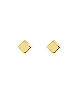 SQUARE  Ohrstecker Gold