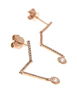 DIAMOND EARRINGS 14K ROSE GOLD