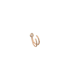 DIAMOND Ohrstecker Single 10K Roségold
