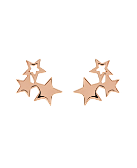 TRIPLE STARS|Ohrstecker Rosé