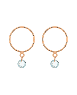FLYING BLUE TOPAZ  Ohrstecker Rosé