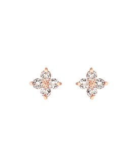 TOPAZ POPPY  EAR STUDS ROSE
