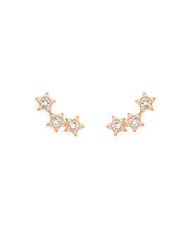 STARLIGHT  EAR STUDS ROSE