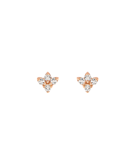 TOPAZ SPRING  EAR STUDS ROSE