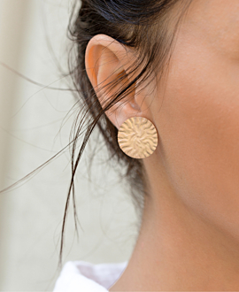 ELODIE EAR STUDS ROSE