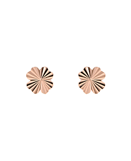 RADIANT CLOVER  EAR STUDS ROSE