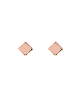SQUARE  EAR STUDS ROSE