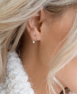 DIAMOND EAR STUD 18K ROSE GOLD