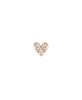 DIAMOND Ohrstecker|Single 10K Roségold