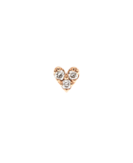 DIAMOND Ohrstecker|Single 10K Roségold