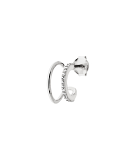 TOPAZ BAR STUD  SINGLE SILVER