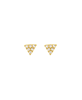 TOPAZ TRIANGLE|Ohrstecker Gold