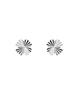 RADIANT CLOVER  EAR STUDS SILVER