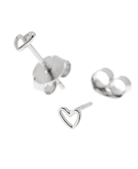 MINI TRUE LOVES Ohrstecker Silber