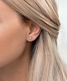 RADIANT STAR EAR STUDS ROSE