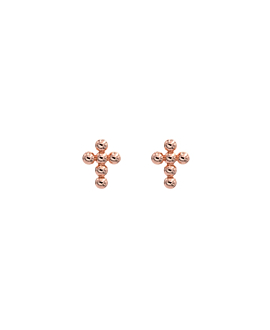 CROSS BEADS|Ohrstecker Rosé