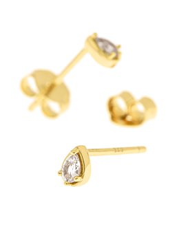 TOPAZ DROP Ohrstecker Gold