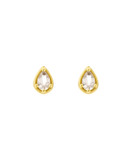 TOPAZ DROP EAR STUDS GOLD