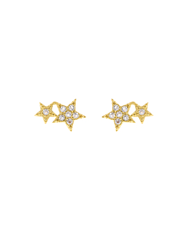 STARS  Ohrstecker Gold