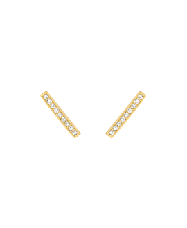 TOPAZ BAR  EAR STUDS GOLD