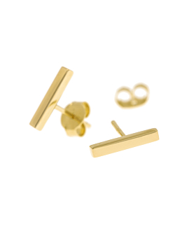 BAR  Ohrstecker Gold