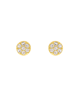 TOPAZ  EAR STUDS GOLD
