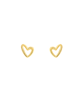 MINI TRUE LOVES EAR STUDS GOLD