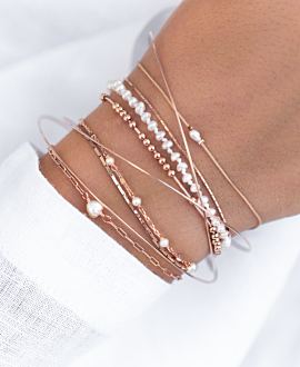 PASTEL PEARLS Armband Lila