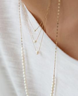 PEARLS Halskette  10K Gold