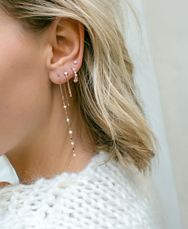 PEARL ATTIRE  EARRINGS ROSE