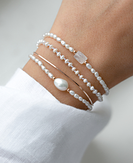 PEARLY GEMSTONE  BRACELET