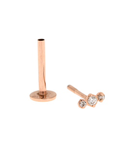 PIERCING SINGLE  14K Roségold