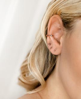 PINK SPARK  EAR STUDS ROSE