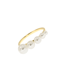 RISING PEARLS  Ring 10K Gold