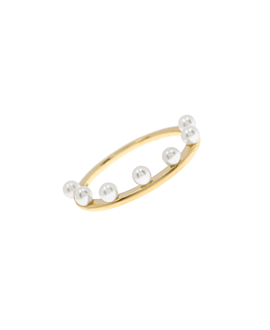 PEARL CROWN Ring 10K Gold