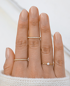 SOLITAIRE Ring 14K Gold