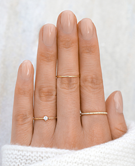 SOLITÄR Ring 14K Gold