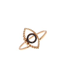 EVIL EYE Ring Roségold