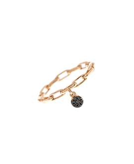 BLACK DIAMOND Ring Roségold