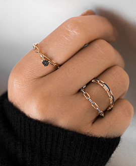 DIAMOND LINK Ring  14K Roségold