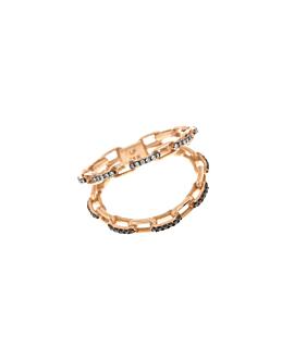 DIAMOND LINK Ring|14K Roségold