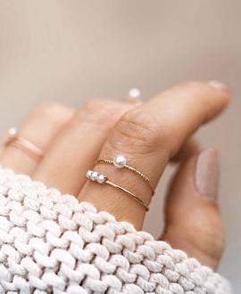 PEARL Ring  14K Roségold
