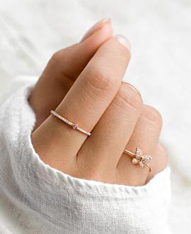 SAPPHIRE Ring  14K Roségold