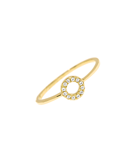 TOPAZ CIRCLE  RING GOLD