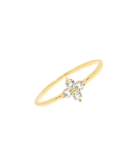 TOPAZ POPPY  RING GOLD