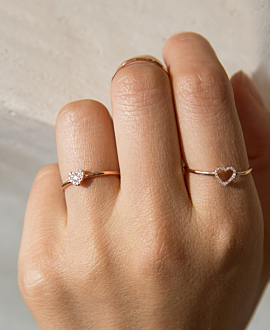 DIAMOND Ring 14K Roségold