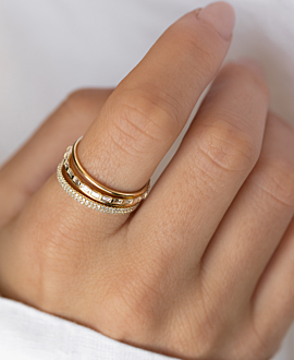 DIAMOND Ringset  14K Gold