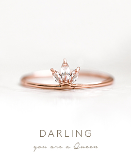 TOPAZ LEAVES|Ring Rosé