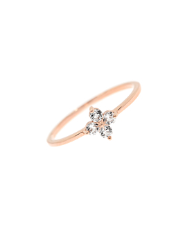 TOPAZ POPPY  RING ROSE